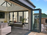 Portelli di piegatura di alluminio del patio contemporaneo di sguardo per il balcone esterno