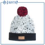 Chapeau à la mode de Beanie de Knit de la plaine POM POM