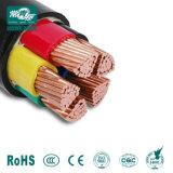 0.6/ 1KV, cinq coeurs, Cu ou Al/XLPE/câble d'alimentation en PVC