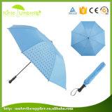 ロゴの印刷を用いる2つのフォールドの傘を広告する高品質21*8K