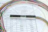 tipo de aço ótico divisor da câmara de ar 1X8 do PLC ótico/divisor da fibra óptica