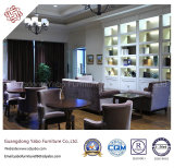 Großzügige Gaststätte-Möbel mit dem Gewebe-Lehnsessel eingestellt (YB-C-14-1)