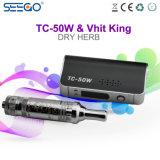 Kit di vendita promozionale della batteria di Seego Tc-50W con Pyrex di erbe Clearomizer