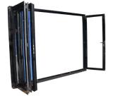 Portes Bi-Se pliantes personnalisées en verre en aluminium de dimension
