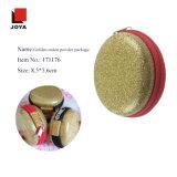 Caja de oro de EVA del conjunto de la potencia de la cebolla de la cremallera redonda promocional de la manera