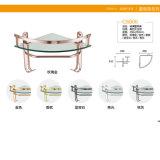 Mensola di alluminio di memoria della cucina di colore dorato (DL45)
