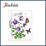 Las flores al por mayor de encargo imprimieron bolsos del regalo del papel de las compras del embalaje del regalo