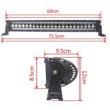 Nouveau modèle populaire 120W pour l'anneau de halo unique rangées simples 4*4 Offroad barre lumineuse à LED