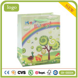 Bolsa de papel del regalo de los almacenes de ropa del juguete del supermercado del arco iris del cumpleaños