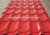 Feuilles glacées galvanisées enduites d'une première couche de peinture de toit de la tuile de toit PPGI/PPGL