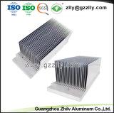 Extrusión de Aluminio personalizado Disipador de calor del radiador