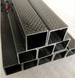 Tubo rectangular de fibra de carbono