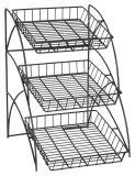 Стеллаж для выставки товаров провода металла корзин средств обязанности Stackable