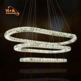 Leuchter-Kristallbeleuchtung des LED-2 runde hängende Licht-LED modern