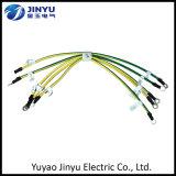 Câble électrique fait sur commande en gros de vert jaune pour fondre avec le terminal