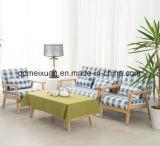 Sofà della singola persona, sofà contemporaneo e contratto del doppio piccolo del panno di arte balcone del sofà di legno solido (M-X3674)