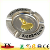 Cenicero redondo del metal de la insignia de la Caliente-Venta de la aleación de encargo del cinc para los recuerdos