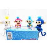 Владение игрушек обезьяны обезьяны младенца цены по прейскуранту завода-изготовителя счастливое на оптовой продаже пакета коробки подарка функций перста 6