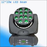 직업적인 단계 점화 12*10W 4in1 LED 헤드 이동하는 광속