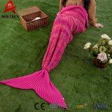 Adulte tricot à mailles de crochet en acrylique couverture de la queue de sirène