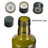 frasco de vidro verde de petróleo verde-oliva de 250ml Dorica Antoque na parte superior do parafuso