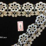 tissu d'or de lacet de 5.5cm pour en arrière la robe de mariage ouverte, vêtements nuptiales de Bohème Hme885