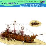 Speelplaats van het Schip van de Piraat van het Pretpark de Houten met Dia en de Grote Klimmer van de Grootte (HF-5401)