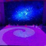 Hot sales Interactive à haut niveau de lumière LED blanche plancher de danse de la lumière des feux de star