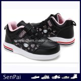 Nouveau Cheap Kid des chaussures plates PU Printemps chaussures de patinage d'enfants fille