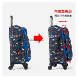 China Manufacturer Full Printing Oxford Fabric Trolley Puts/Bag, OEM Casual Travel Luggage Suitcase Set for Trip
