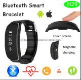 Водоустойчивый браслет IP65 Bluetooth франтовской с монитором H29 тарифа сердца