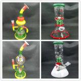 Tubo de fumar de vidro de vidro de reciclagem de vidro popular com vários desenhos