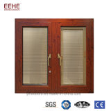 Foshan/guichet en aluminium porte de Guanghzou avec les abat-jour magnétiques/auvent