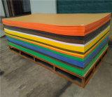 Strato acrilico, colore rosso, azzurro, bianco e colore giallo di colore opaco