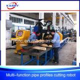 CNC van de Pijp van de Structuur van de Bundel van de Buis van het Staal van het Frame van Constrction van het staal Plasma/het Scherpe Gat die van de Vlam Beveling boren die Machine inlassen