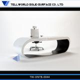 Corian feste moderne Oberflächenmöbel-weißer Manager-leitende Stellung-Schreibtisch