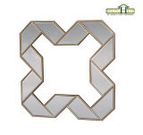 Het antieke Geometrische Gestalte gegeven Frame van de Spiegel met het Gouden Scherpen
