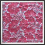 ポリエステル花の刺繍が付いているナイロン網