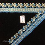 rifornimento dell'annata di 4.5cm del merletto francese di Chantilly con il ricamo Hme806 dell'oro verde del Crochet