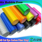 Воздушные пузырьки воздуха без 4D-Cat Eye углеродного волокна Car виниловая пленка устройства обвязки сеткой