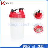 Botella al por mayor de la coctelera de la aduana con el mezclador del mezclador, botella de la coctelera de los deportes del gym, sacudida de la proteína de la aptitud, botella de agua de los deportes,
