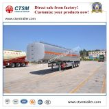 semi Aanhangwagen van de Tank van het Roestvrij staal van de Opslag van de Olie van 45cbm de Vloeibare