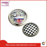 Pearl stampato Metal Snap Button333# (or-089)