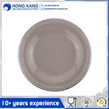 Plaque de dîner ronde en gros de mélamine pour la vaisselle