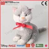 ASTMの柔らかい猫は子供のためのプラシ天のぬいぐるみ猫のおもちゃをもてあそぶ