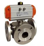 Flange 3방향 Ball Valve ISO Direct Mounting Pad Pn16/40
