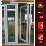 Двери входа качания двойника замены PVC стеклянные для дома