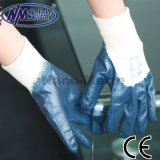 Jersey Blue chaud Nmsafety enduction nitrile Gants de travail