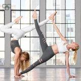 Altos pantalones apretados de la yoga de las mujeres negras de la cintura del buen soporte
