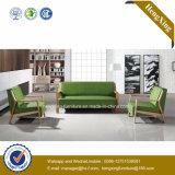 Sofa moderne de bureau de divan de cuir véritable de meubles de bureau (HX-CF002)